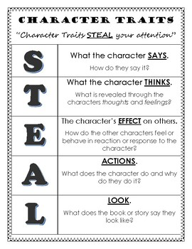Character Traits Mnemonic Device: STEAL