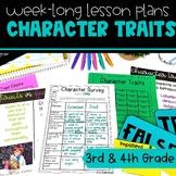 Character Traits, Motivations, & Feelings Full Lesson Plan