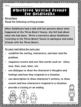 Narrative Writing Prompts With Character Traits