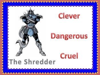 Character Traits  Ninja Turtle Theme
