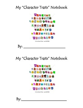 Character Traits Notebook