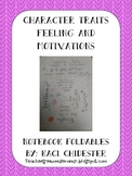 Character Traits Notebook Foldable