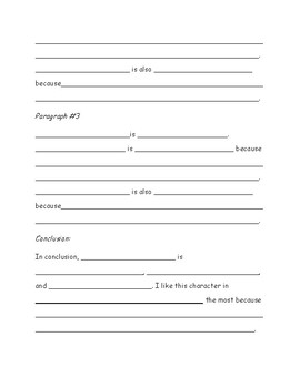 Character Traits Outline