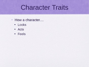 Character Traits PPT