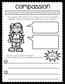Character Traits Packet {SUPER HERO theme}