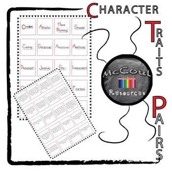 Character Traits Pairs Game