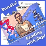 Character Traits Passage & Worksheets: Frida Kahlo Reading Activities with Song