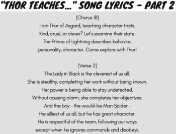 Character Traits Passages and Character Traits Worksheets Bundle Using Rap Songs