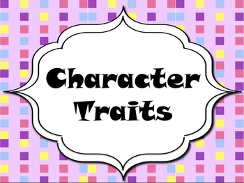 Character Traits- Perfect for the fall!!!!!!!!!!!!