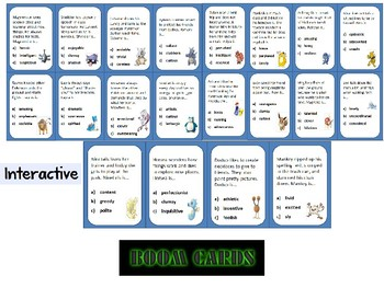 Character Traits- Pokemon Go! Themed BOOM CARDS  Gr.5-8