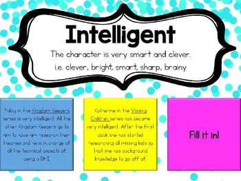 Character Traits Post-it Boards