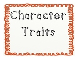 Character Traits Poster/ Anchor Charts