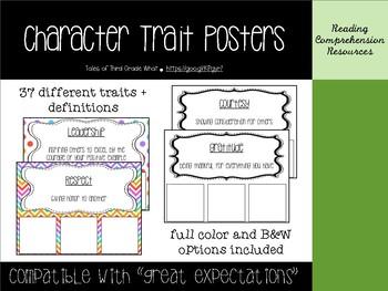 Character Traits Poster Bundle