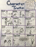 Character Traits Poster - With Pictures for Early Readers