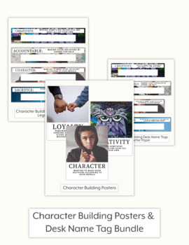 Character Traits Posters & Desk Name Tags