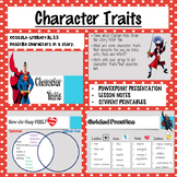 Character Traits Lesson Activity & Graphic Organizer Bundle