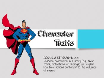 character traits graphic organizer pdf