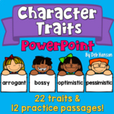 Character Traits PowerPoint with Distance Learning Option