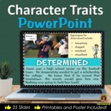 Character Traits POWERPOINT with Posters and Worksheets