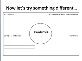 Character Traits Presentation