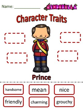 Character Traits Prince from Cinderella
