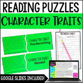 Character Traits Puzzles   4th and 5th Grade Reading Center