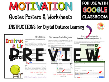 Growth Mindset - Motivation Quotes Posters and Printables