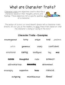 Character Traits - Prove It!