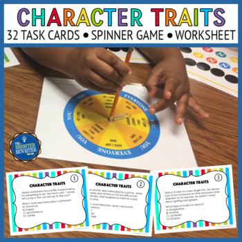 Character Traits Task Cards & Game