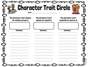 Character Traits Restorative Circle Activity - PBIS Resource