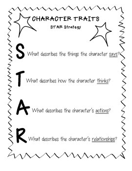 Character Traits - STAR Strategy