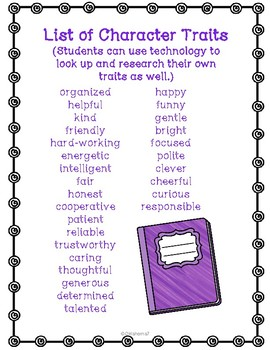 Character Traits STEM project