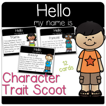 Character Traits Scoot / Task Cards