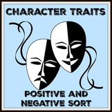 Character Traits Sort with Answer Key
