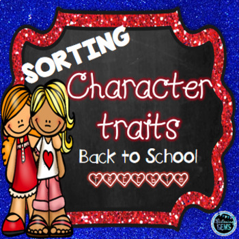 Character Traits Sorting - Back to School - Freebie