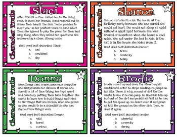 Character Traits Stars - 20 passages with or without QR codes