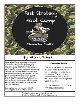 Character Traits Strategy Boot Camp