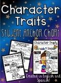 Character Traits Student Anchor Chart (Eng. & Spa.)