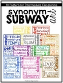 Character Traits & Synonyms Subway Art Posters
