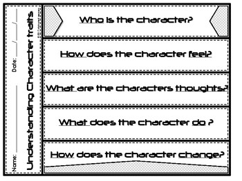 Character Traits Tab Booklet