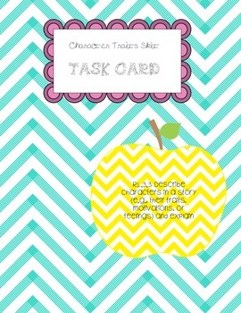 Character Traits Task Card