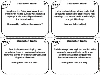 Character Traits Task Cards: Remote Learning ELA (Distance Learning)