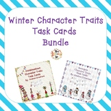 Character Traits Task Cards Bundle:  Winter Themed