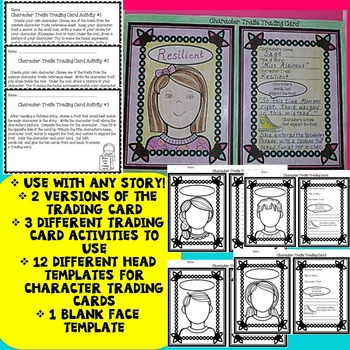 Character Traits Task Cards, Character Traits Activities and Printables, Bundle
