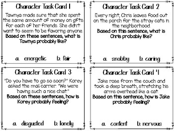 Editable Character Traits Task Cards PLUS...Cooperative Learning Activities