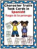 Character Traits Task Cards in SPANISH - Rasgos de los personajes