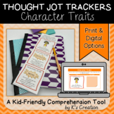Reading Response: Character Traits - A Comprehension Sticky Note Tracker