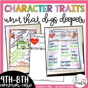 Character Traits Unit for Upper Elementary and Middle School