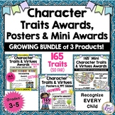 Character Traits & Virtues Posters & Character Awards GROWING BUNDLE- 152 Traits
