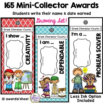 Character Traits & Virtues Posters & Character Awards GROWING BUNDLE- 153  Traits